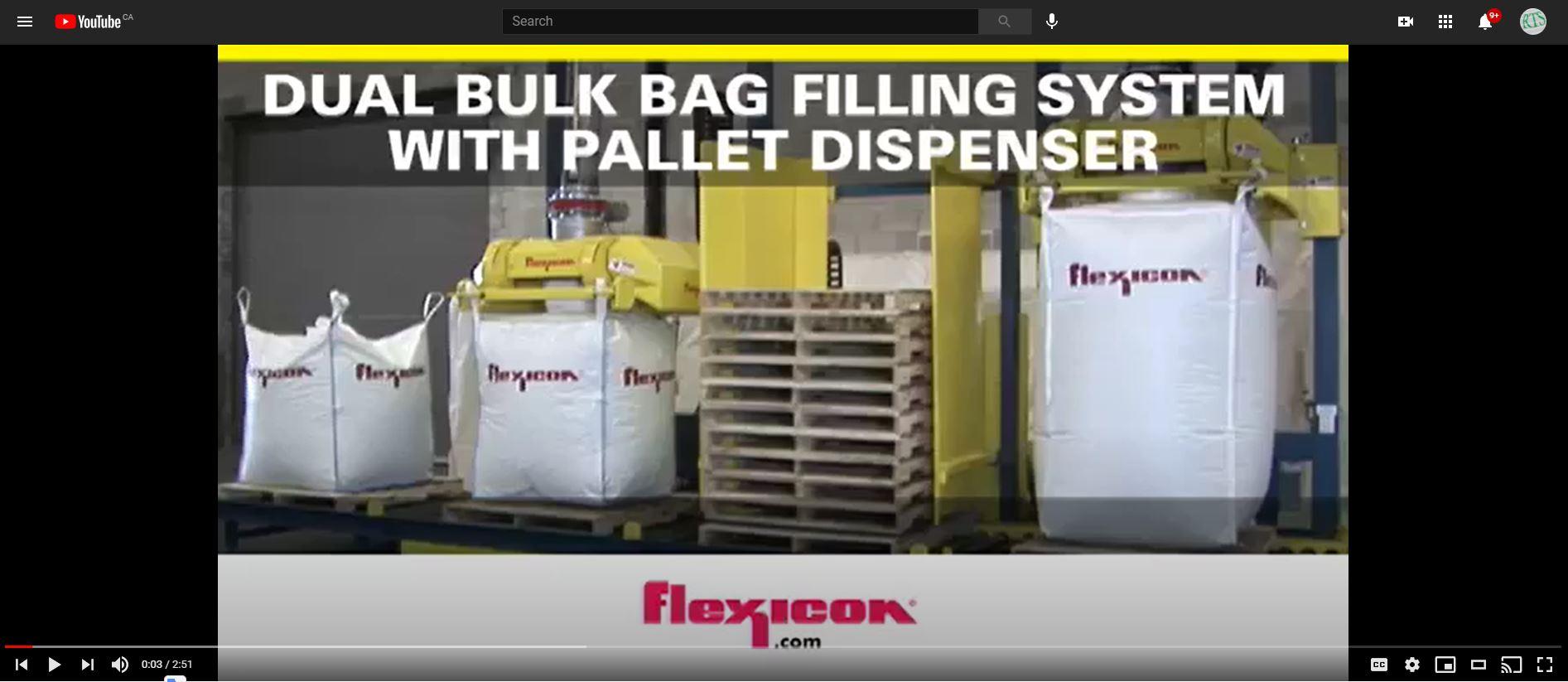 Dual Bulk Bag Filling System With Pallet Dispenser