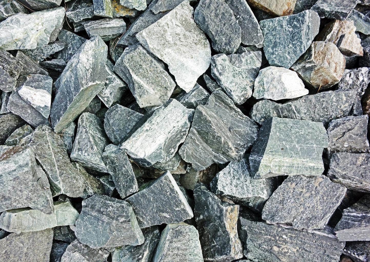 quarried mining rocks